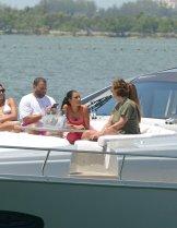 Kim Kardashian And Larsa Pippen On Yacht In Miami