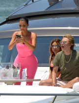 Kim Kardashian And Larsa Pippen On Yacht In Miami