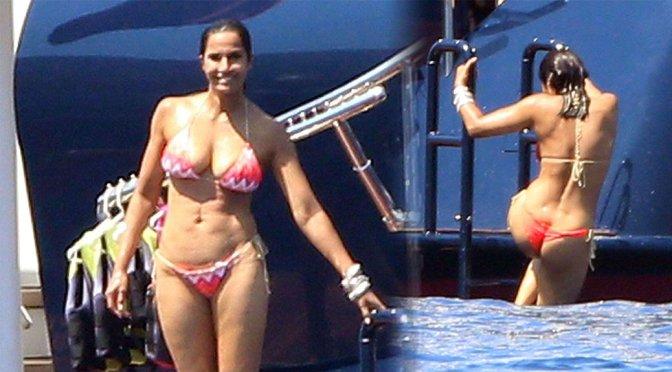 Padma Lakshmi – Bikini Candids in Capri
