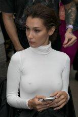 Bella Hadid Sexy Braless Pokies