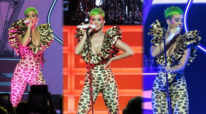 Katy Perry Sexy Cleavage On Stage