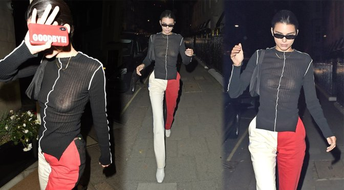 Kendall Jenner Sheeer Black Top