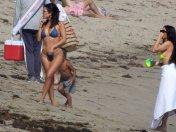 Kourtney Kardashian Bikini On Beach