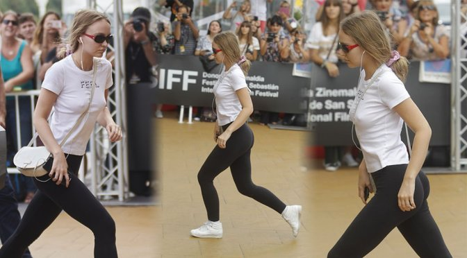 Lily-Rose Depp – Ass Candids in San Sebastian
