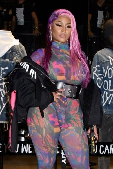 Nicki Minaj Braless Seethrough Boobs