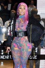 Nicki Minaj Braless Seethrough Boobs