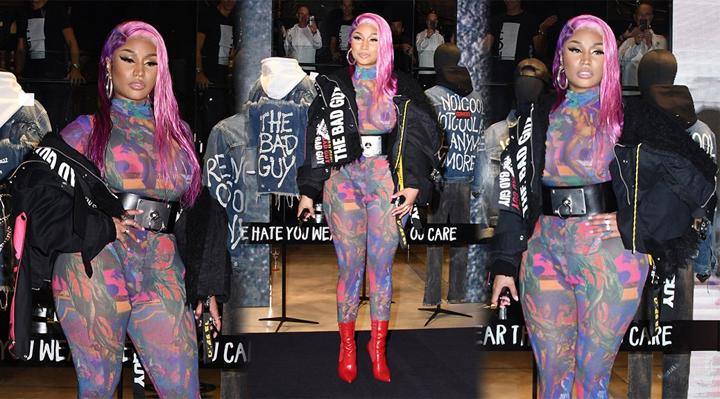 Nicki Minaj - Braless See-Through Candids in Milan