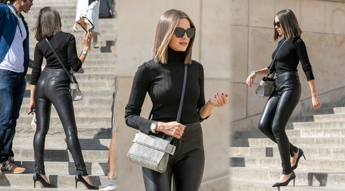 Olivia Culpo – Givenchy Photoshoot Candids in Paris