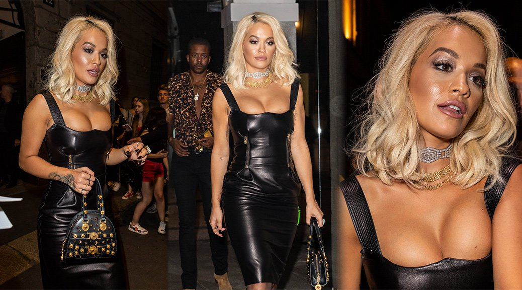 Rita Ora - Big Boobs Candids in Milan