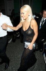 Rita Ora Braless Boobs