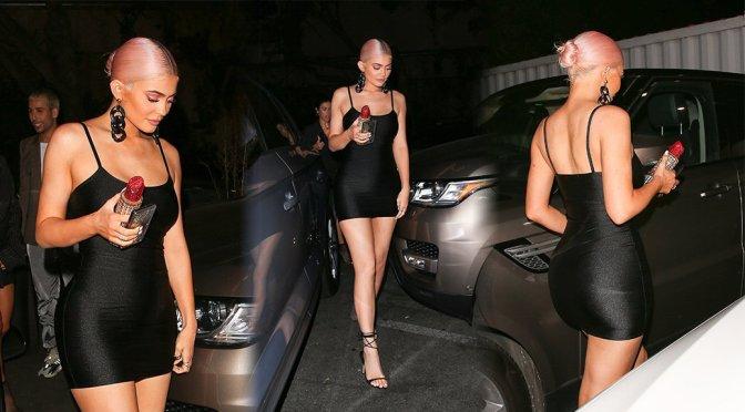Kylie Jenner Sexy Little Black Dress