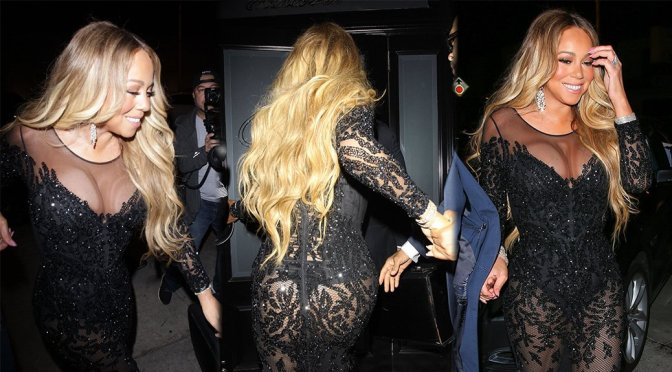 Mariah Carey – Sexy Candids at Craig's Restaurant in West Hollywood