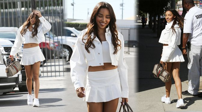 """Tinashe – Leggy at """"Dancing With The Stars"""" Studio in Los Angeles"""