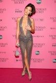 Bella Hadid Sheer Dress Exposing Braless Breasts And Panties