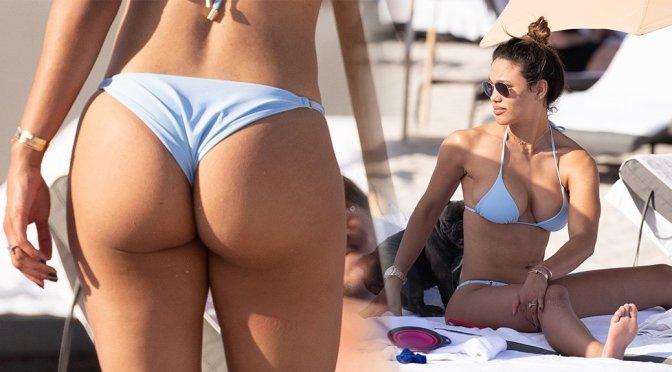 Jessica Ledon – Thong Bikini Candids in Miami Beach