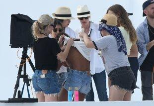 Josephine Skriver And Jasmine Tookes Sexy At The Beach
