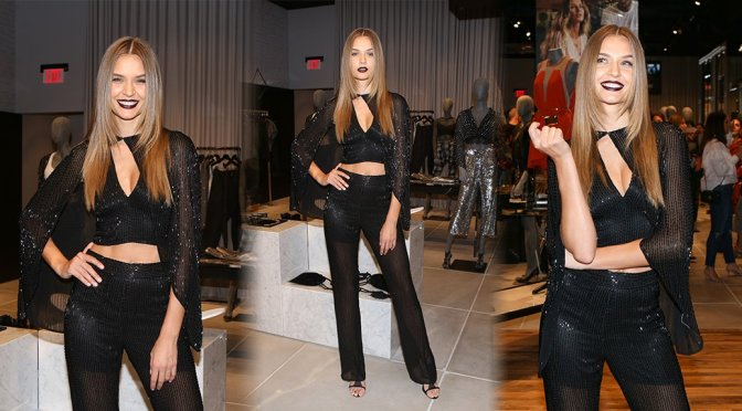 Josephine Skriver – Rosa Cha Store Opening in Los Angeles