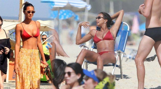 Lais Ribeiro on Ipanema Beach in Rio de Janeiro