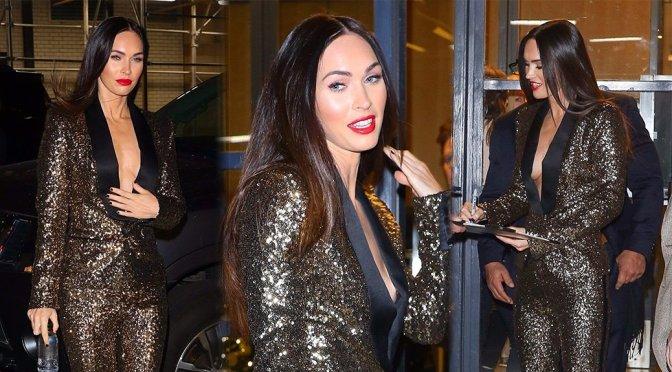 Megan Fox – Nipslip Candids on Watch What Happens Live! in New York