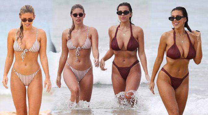 Natasha Oakley & Devin Brugman – Bikini Candids on Bondi Beach in Sydney