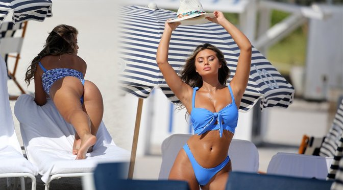 Sofia Jamora – Photoshoot Candids in Miami Beach