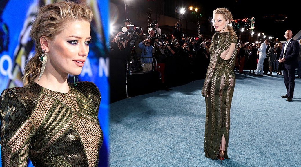 "Amber Heard - Pantyless at ""Aquaman"" Premiere in Hollywood"
