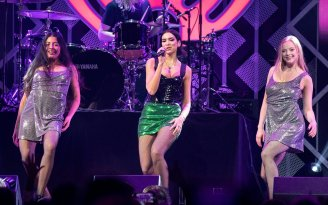 Dua Lipa Sexy Legs On Stage