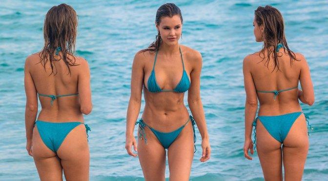 Joy Corrigan – Bikini Candids on the Beach in Miami