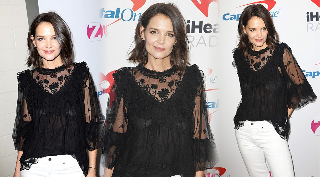 Katie Holmes - Braless See-Through at Z100's Jingle Ball 2018 in New York