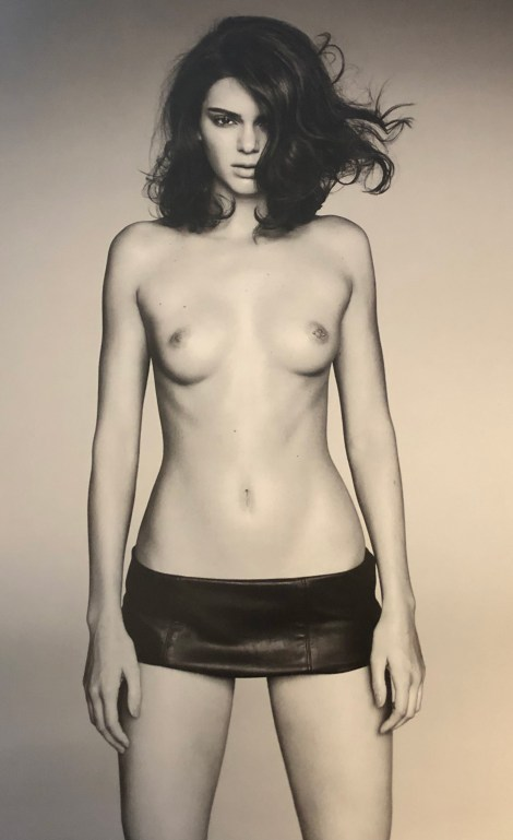 Kendall Jenner Topless Pierced Nipples