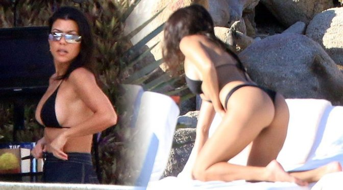 Kourtney Kardashian – Bikini Candids in Mexico