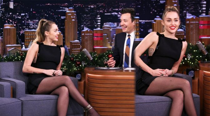 """Miley Cyrus on """"Tonight Show Starring Jimmy Fallon"""" in Los Angeles"""
