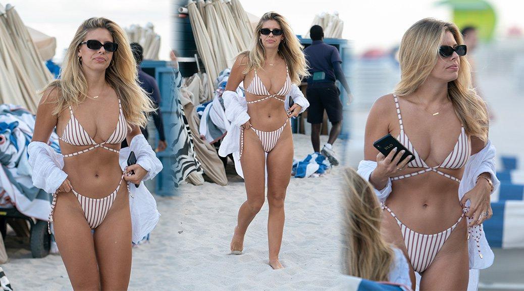Natasha Oakley - Bikini Candids in Miami