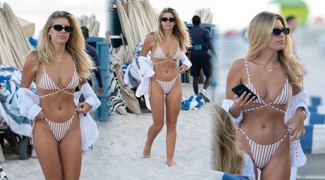 Natasha Oakley – Bikini Candids in Miami