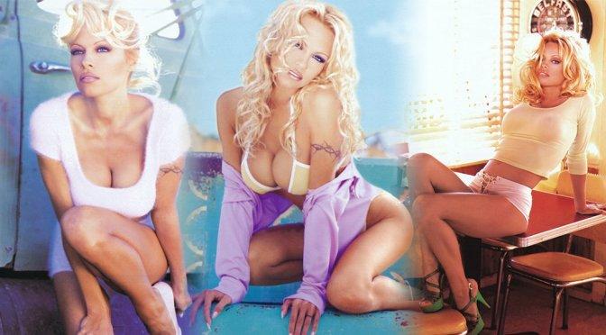 Pamela Anderson – 1997 Calendar Photoshoot by William Hawkes