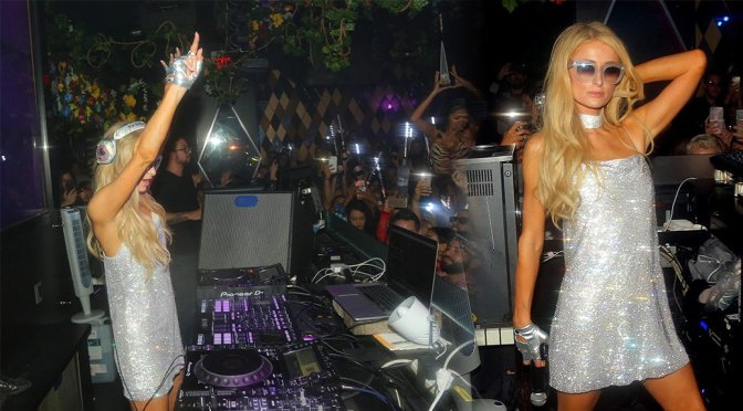 Paris Hilton at Wall Nightclub in Miami