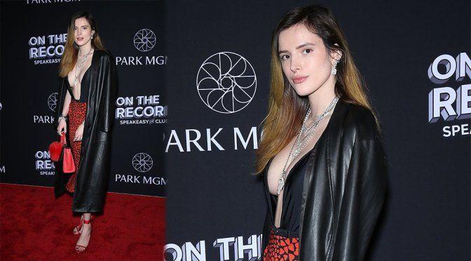 Bella Thorne – On The Record Speakeasy & Club Grand Opening in Las Vegas