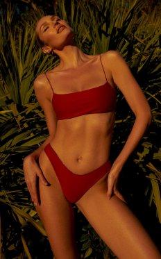 Candice Swanepoel Sexy in Red Bikini