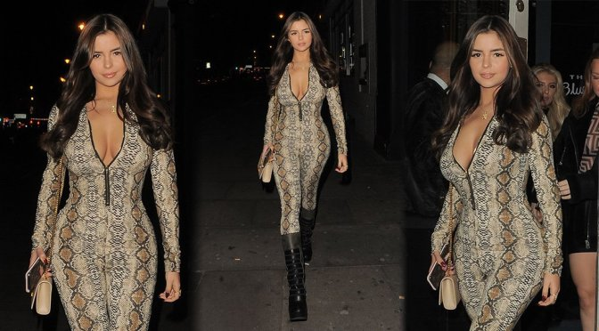 Demi Rose Mawby – Sexy Candids in London