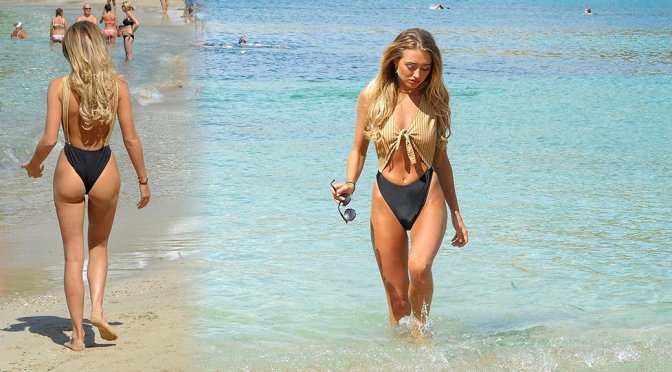 Georgia Harrison – Sexy Swimsuit Candids in Cape Verde