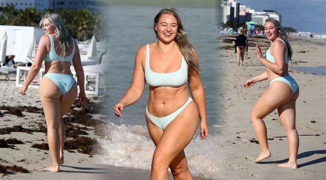 Iskra Lawrence – Bikini Candids in Miami