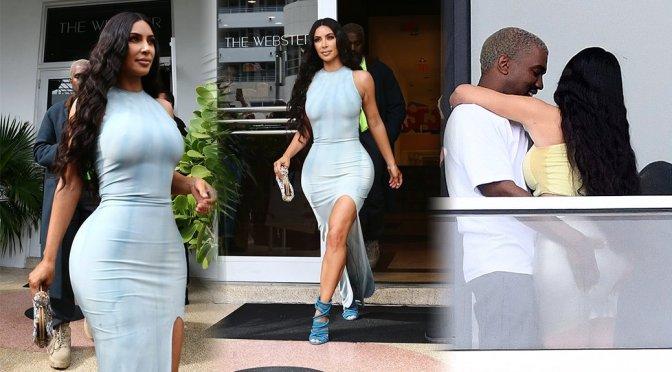Kim Kardashian – Sexy Braless Candids in Miami
