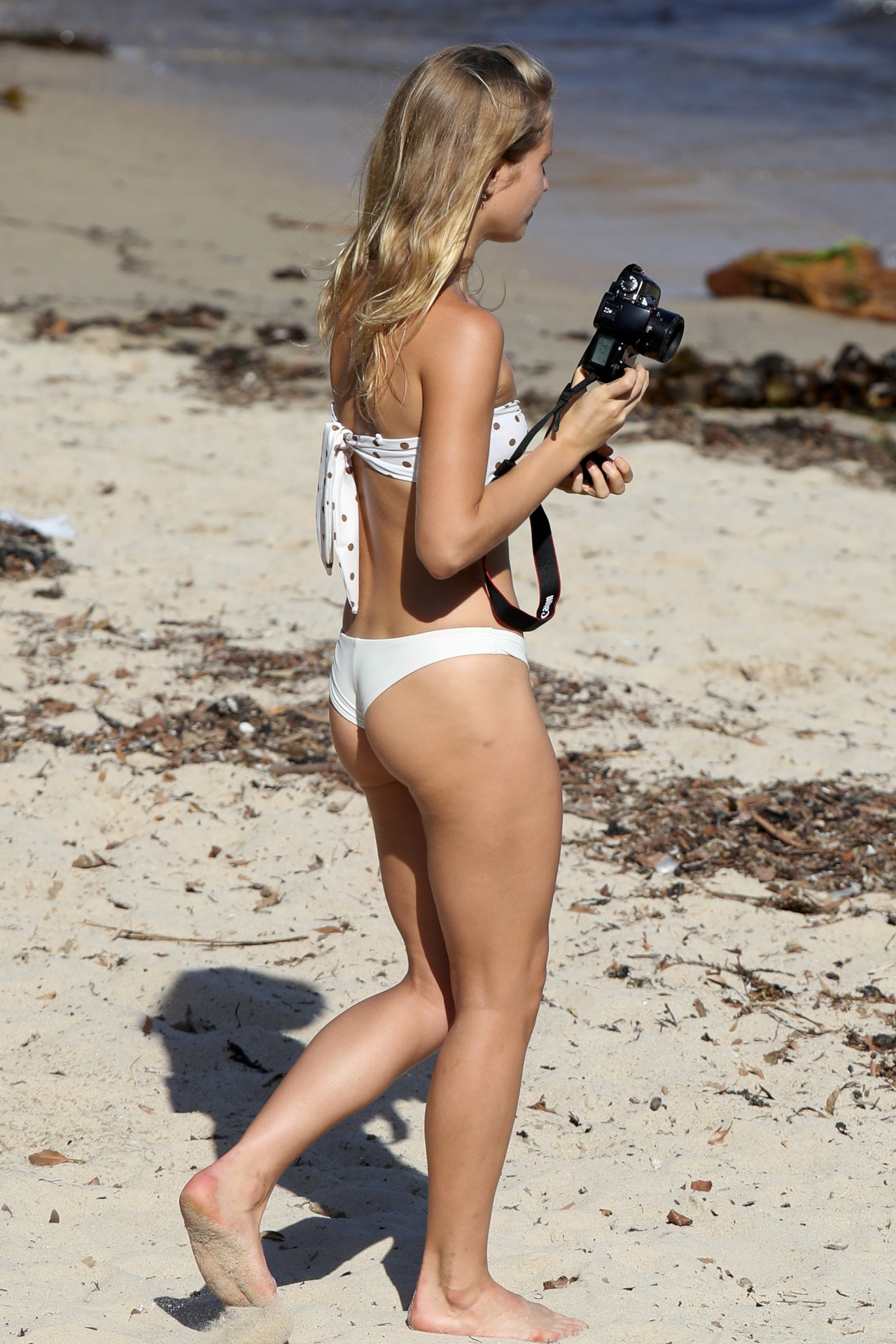 Sailor Brinkley-Cook in Bikini on the Beach in Sydney