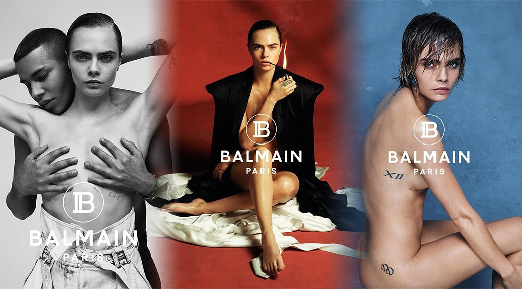 "Cara Delevingne - ""Balmain"" Naked Photoshoot"