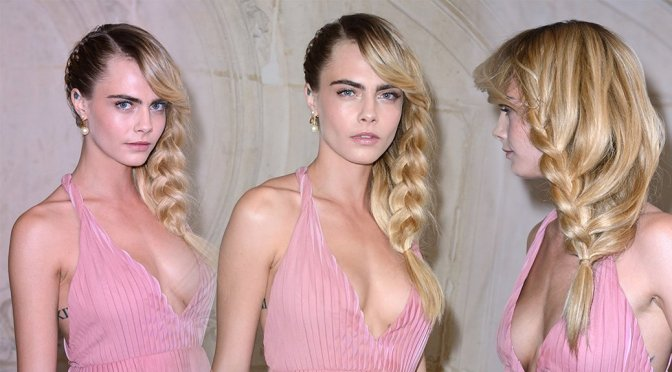 Cara Delevingne – Christian Dior Fashion Show in Paris