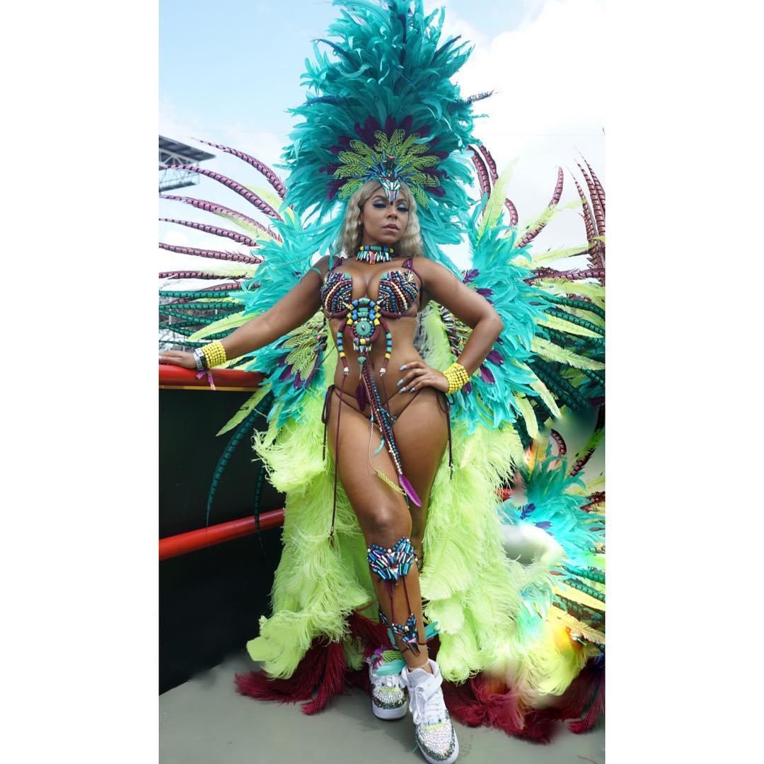 Ashanti Half Naked At Carnival