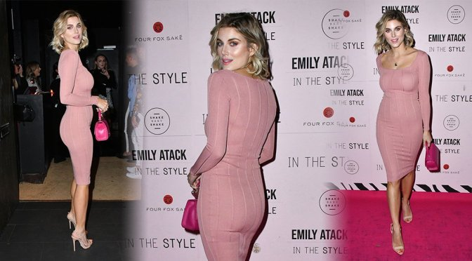 Ashley James Hot In Tight Pink Dress