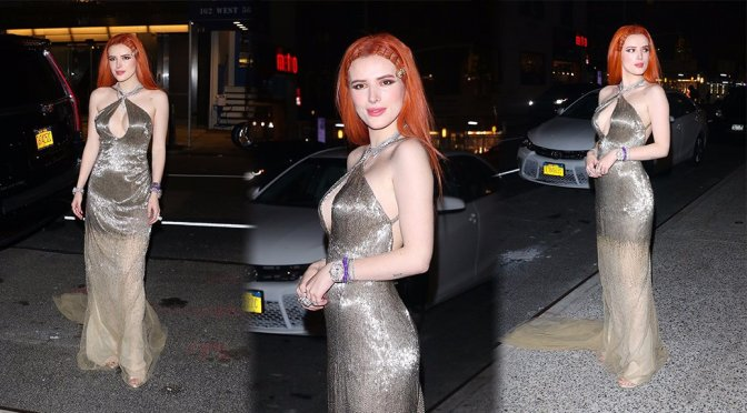 Bella Thorne – Braless Candids in New York