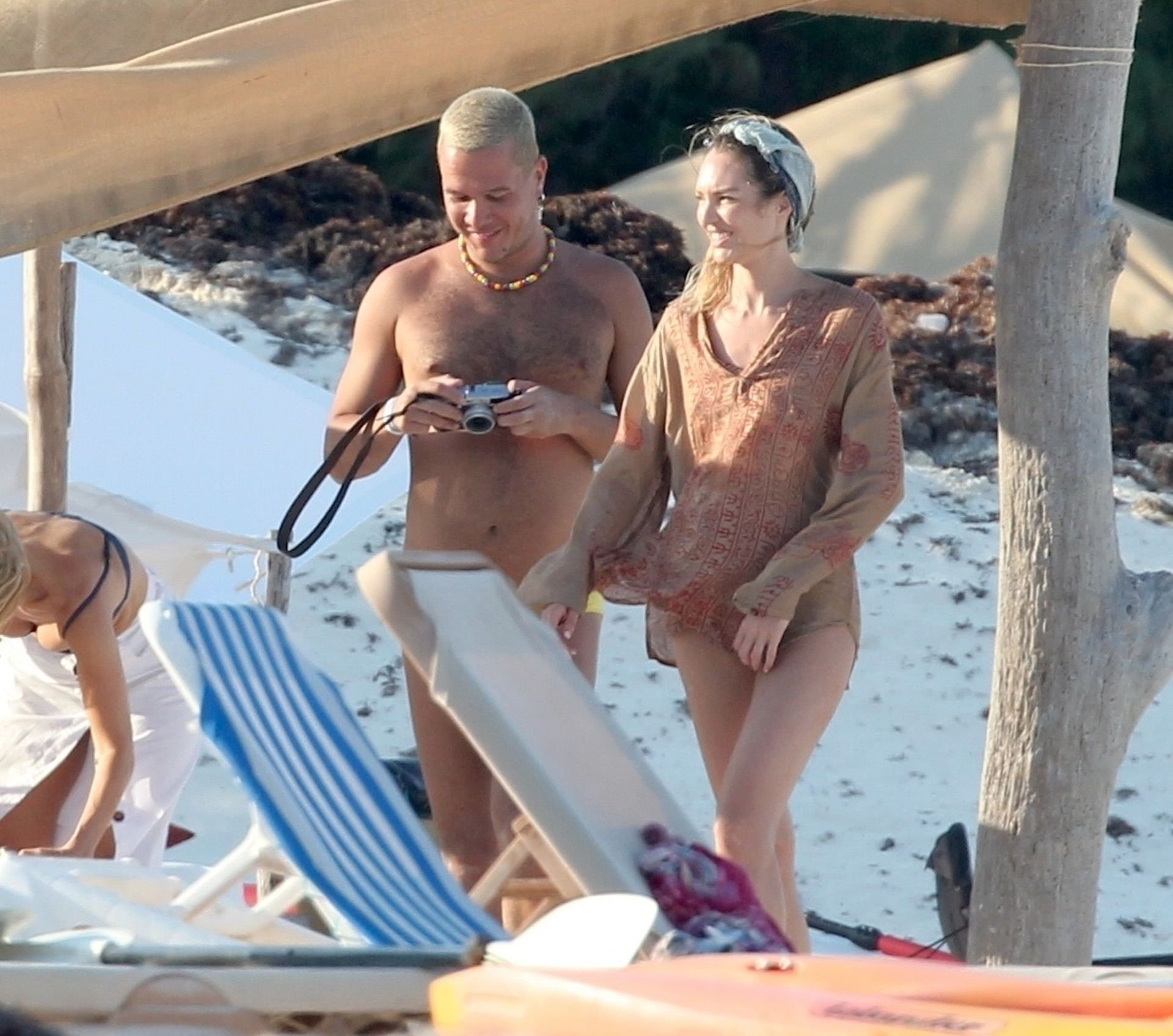 candice swanepoel naked candids at a beach in tulum