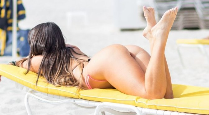 Claudia Romani – Thong Bikini Candids in South Beach